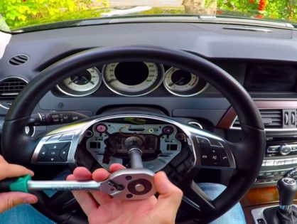 Как снять блокиратор руля Mercedes W204