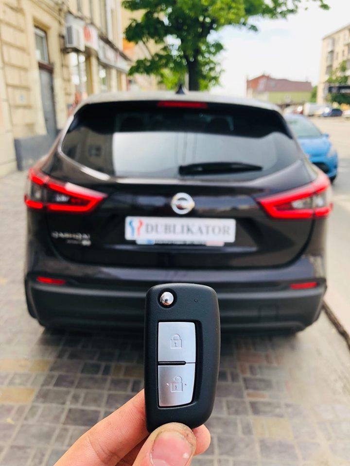 Nissan Qashqai 2018 выкидной ключ
